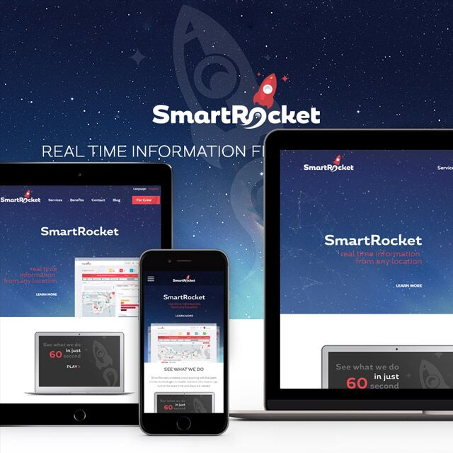 Smart Rocket - Mobile App Landing Page